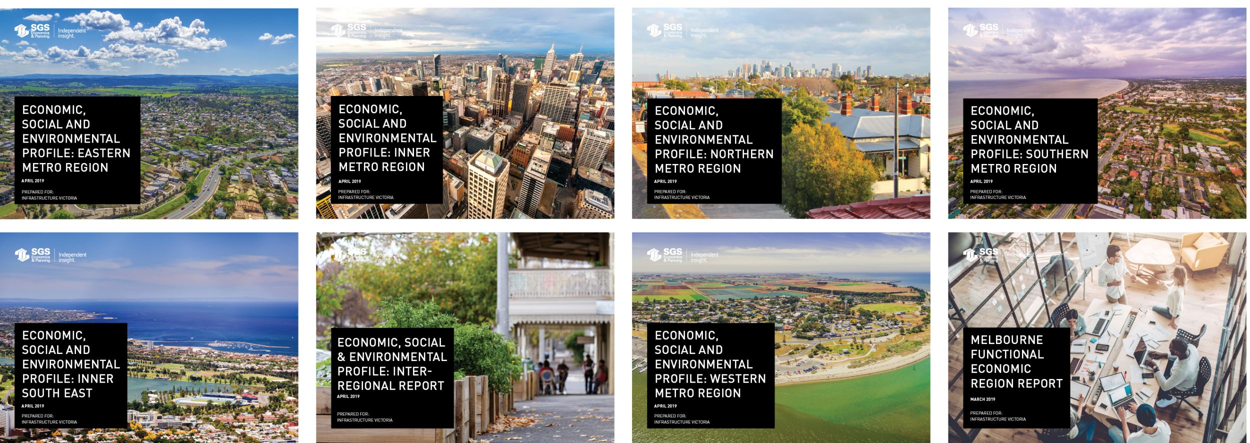 SGS Economics and Planning Spatial profile covers